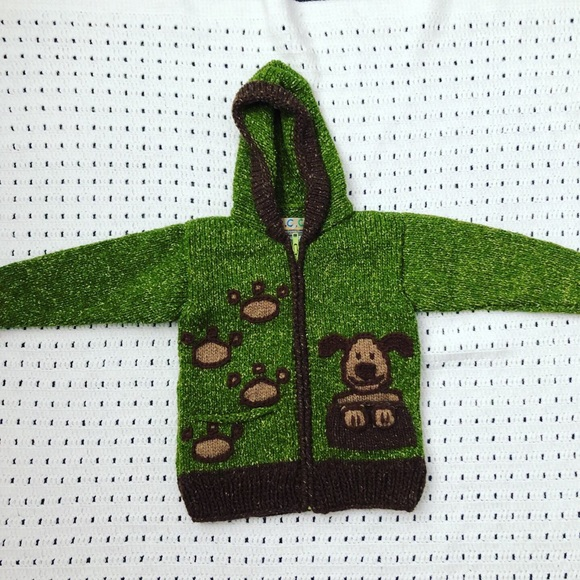 Other - Knit green dog sweater 4T